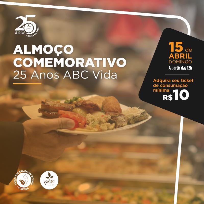 ABC Vida fará almoço em comemoração aos 25 anos da instituição