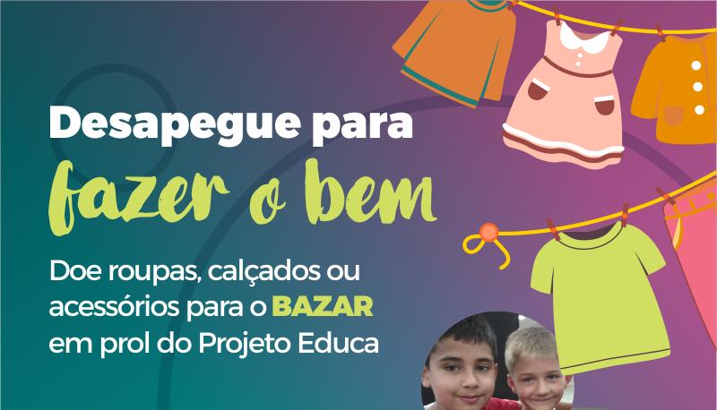 Contribua com o Bazar Educa e ajude na reforma do espaço